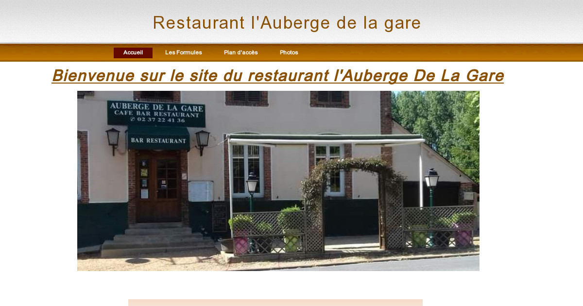 restaurant l auberge de la gare accueil